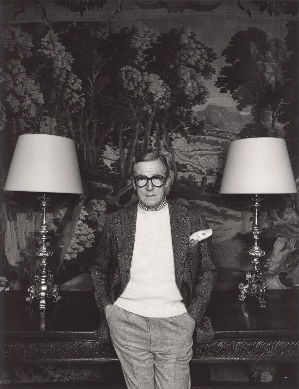 Sir Hardy Amies, by John Swannell, 1980s - NPG x34014 - © John Swannell / Camera Press