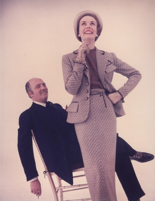 Charles Creed with a fashion model, by Norman Parkinson, 1953 - NPG x30058 - © Norman Parkinson Archive