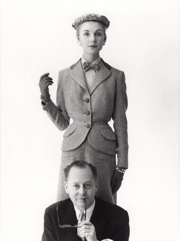(Henry) Digby Morton with a fashion model, by Norman Parkinson, 1953 - NPG x30055 - © Norman Parkinson Archive