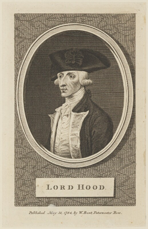 Samuel Hood, 1st Viscount Hood, published by William Bent, published 31 May 1784 - NPG D15111 - © National Portrait Gallery, London