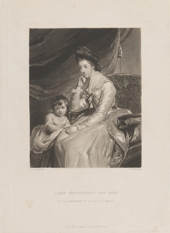 John Parker, 1st Earl of Morley; Theresa Parker, by Samuel William Reynolds, published by  Hodgson & Graves, after  Sir Joshua Reynolds, published 1837 (1772-1775) - NPG D15171 - © National Portrait Gallery, London