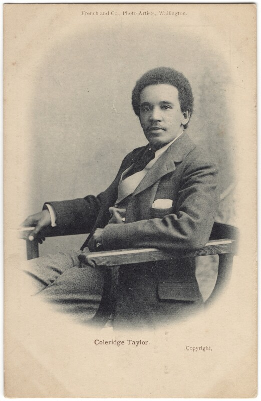 Samuel Coleridge-Taylor, by Harry John Kempsell, for  French and Co, 1901 - NPG x32771 - © National Portrait Gallery, London