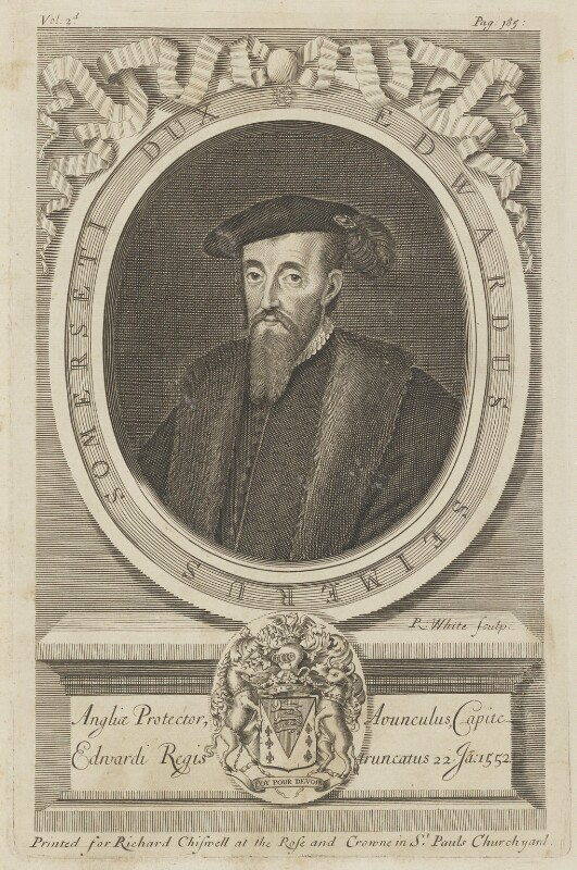 Edward Seymour, 1st Duke of Somerset, by Robert White, printed for  Richard Chiswell, published 1679 - NPG D15192 - © National Portrait Gallery, London