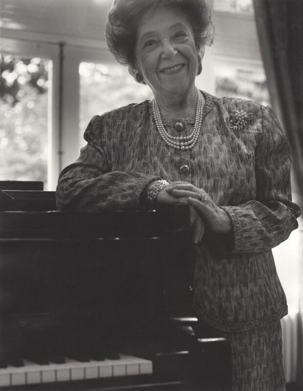 Fanny Waterman, by John Arnison, 15 July 2003 - NPG x126179 - © John Arnison / National Portrait Gallery, London