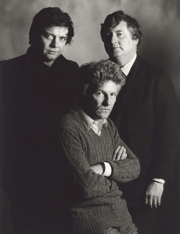 David Bailey; Patrick Lichfield; Terence Donovan, by John Swannell, circa 1980 - NPG x25285 - © John Swannell / Camera Press
