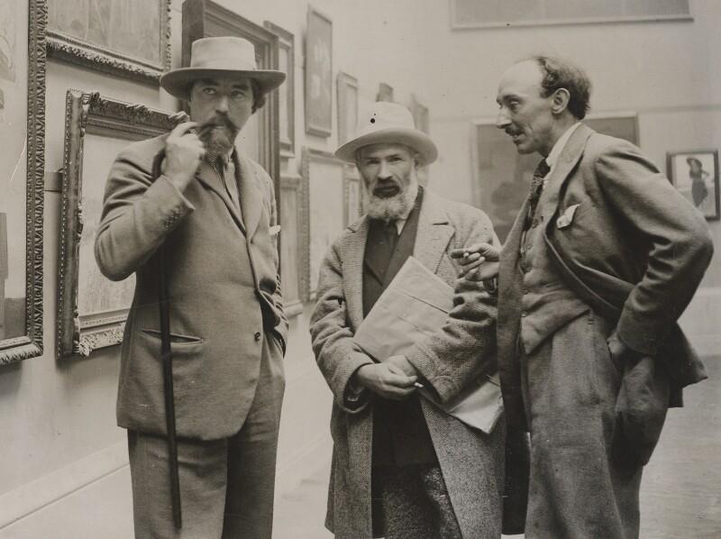 Augustus John; Constantin Brancusi; Frank Owen Dobson, by Unknown photographer, circa 1925 - NPG x20684 - © National Portrait Gallery, London