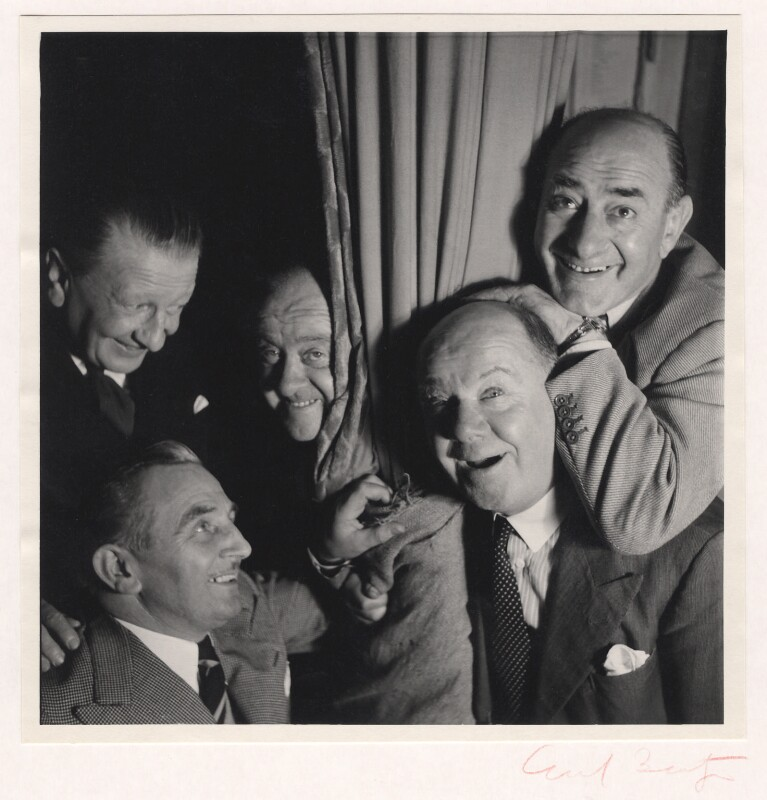 The Crazy Gang (Bud Flanagan; Jimmy Nervo; Teddy Knox; Charlie Naughton; Jimmy Gold), by Cecil Beaton, 17 October 1952 - NPG x27531 - © Cecil Beaton Studio Archive, Sotheby's London