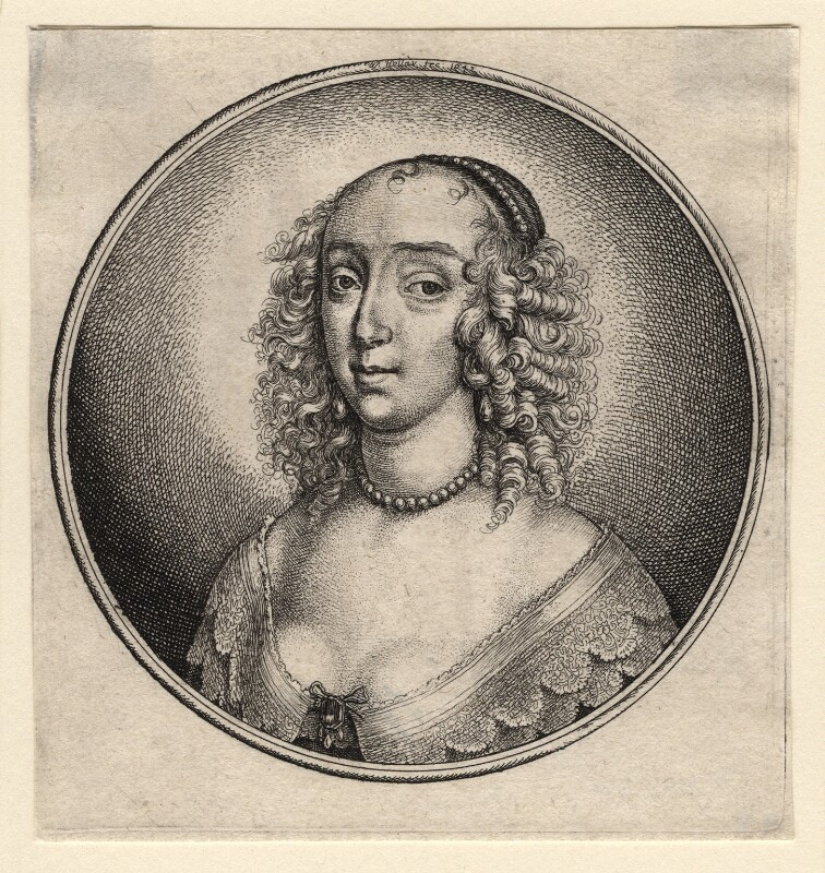 Mary Villiers, Duchess of Richmond and Lennox, by Wenceslaus Hollar, after  Unknown artist, 1642 - NPG D18328 - © National Portrait Gallery, London