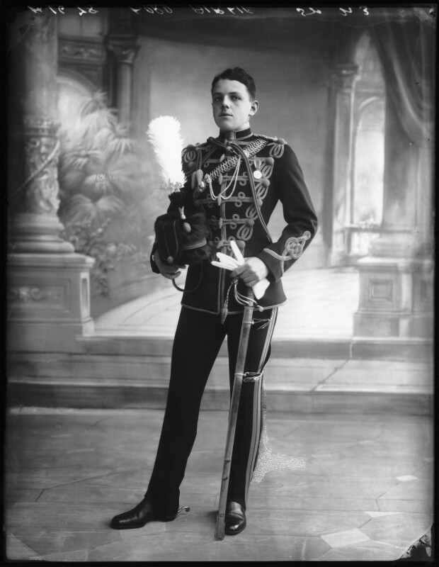 David Lyulph Gore Wolseley, 7th Earl Airlie, by Bassano Ltd, 19 September 1912 - NPG x80042 - © National Portrait Gallery, London