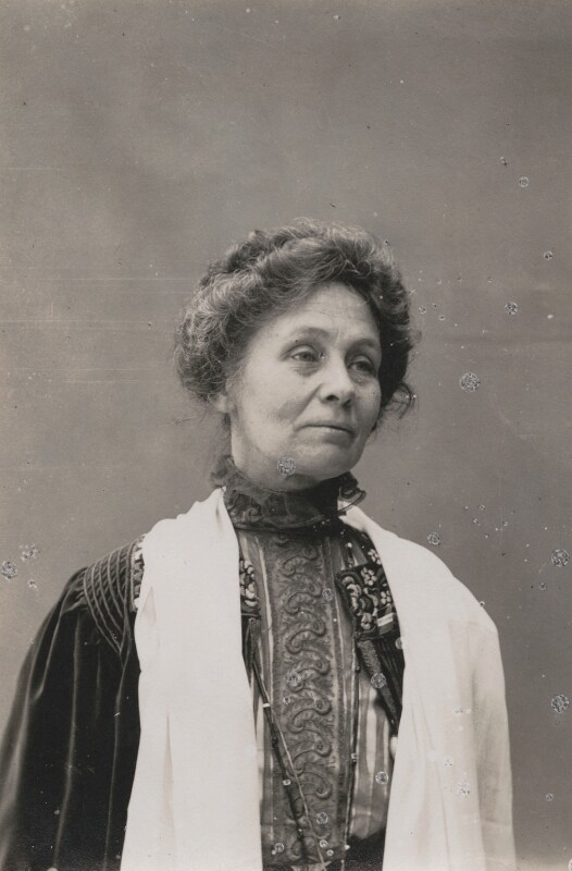 Emmeline Pankhurst, by Mrs Albert Broom (Christina Livingston), 1910s - NPG x6194 - © National Portrait Gallery, London