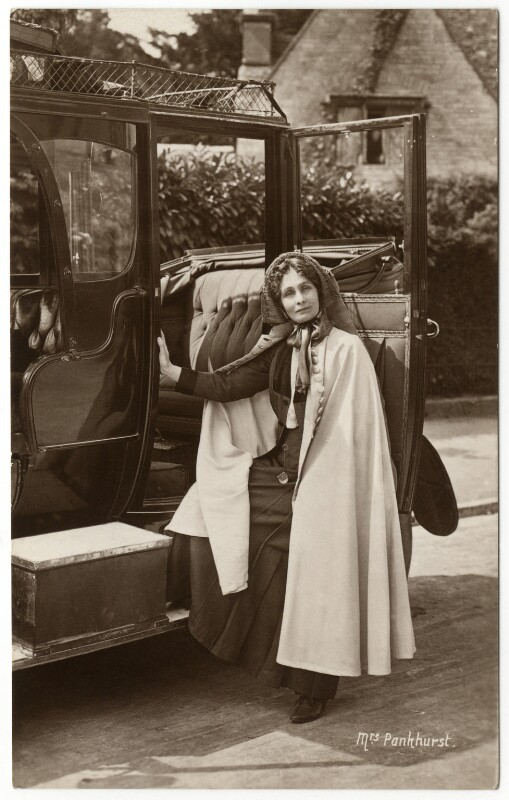 Emmeline Pankhurst, by Wilfred Dennis Moss, 1911 - NPG x46491 - © National Portrait Gallery, London