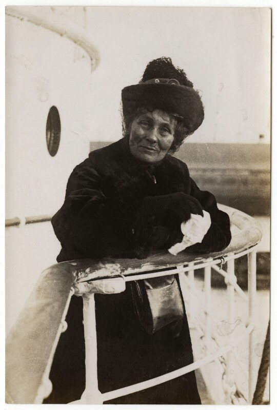 Emmeline Pankhurst, by Daily Mirror, 11 October 1913 - NPG x32604 - © National Portrait Gallery, London