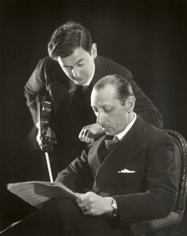 Samuel Dushkin; Igor Fyodorovich Stravinsky, by Paul Tanqueray, 1934 - NPG x25925 - © estate of Paul Tanqueray