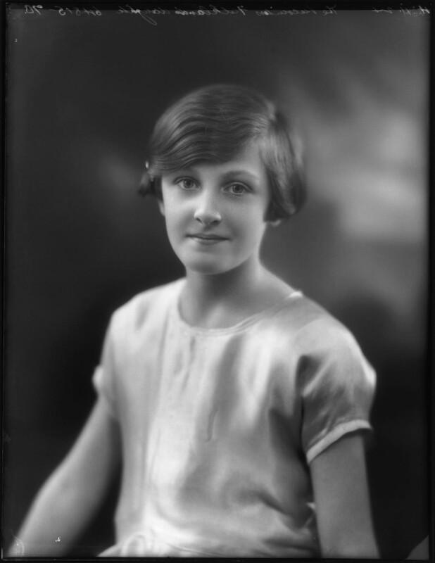 Hon. Sheila Edwards (née Cary), by Bassano Ltd, 4 November 1924 - NPG x123004 - © National Portrait Gallery, London