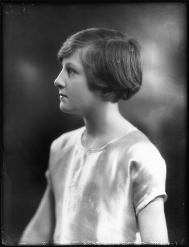 Hon. Sheila Edwards (née Cary), by Bassano Ltd, 4 November 1924 - NPG x123005 - © National Portrait Gallery, London