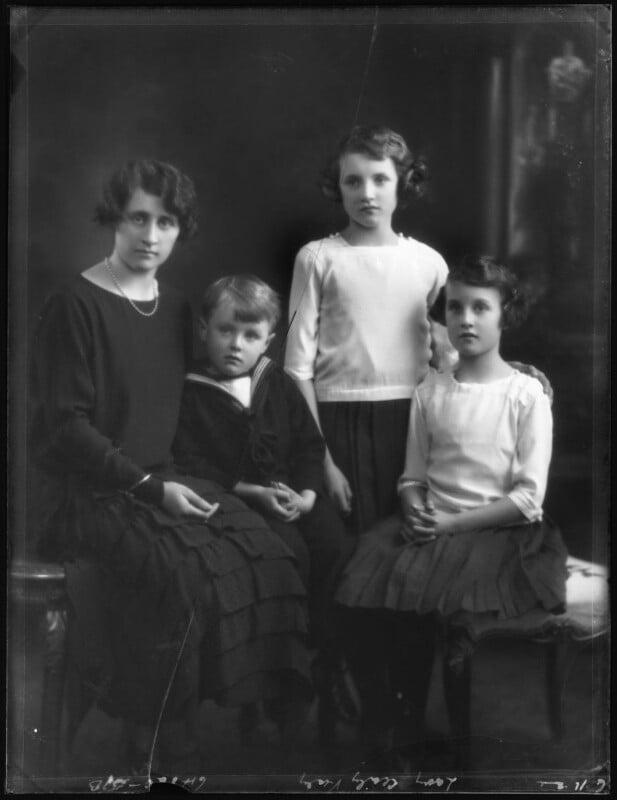 The Vesey family, by Bassano Ltd, 6 November 1924 - NPG x123006 - © National Portrait Gallery, London