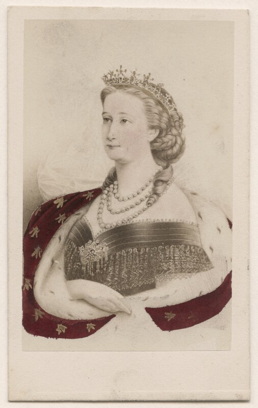 Eugénie, Empress of France, by Neurdein, circa 1860 - NPG Ax46795 - © National Portrait Gallery, London