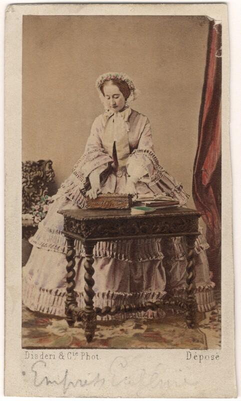 Eugénie, Empress of France, by Disdéri, circa 1858 - NPG Ax46761 - © National Portrait Gallery, London