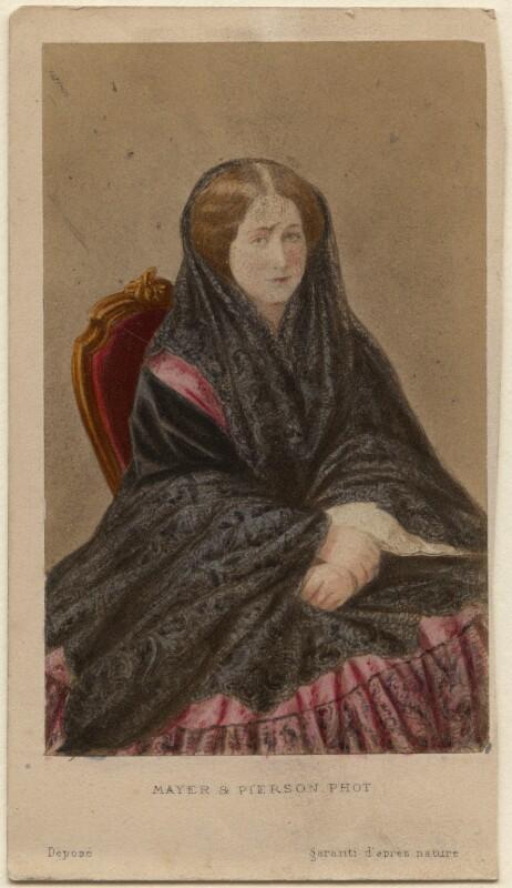 Eugénie, Empress of France, by Mayer & Pierson, circa 1860 - NPG Ax46790 - © National Portrait Gallery, London