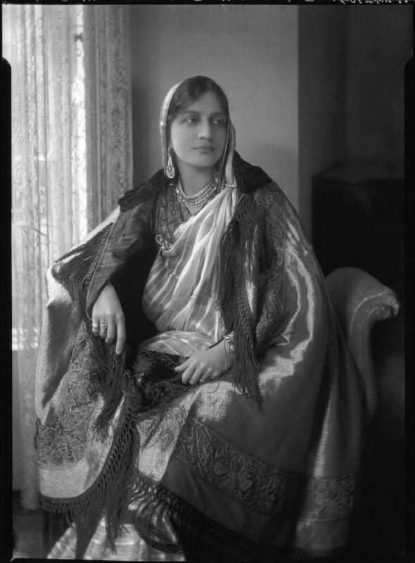 Lady Allia Abbas Ali Baig, by Lafayette (Lafayette Ltd), 14 May 1929 - NPG x47709 - © National Portrait Gallery, London