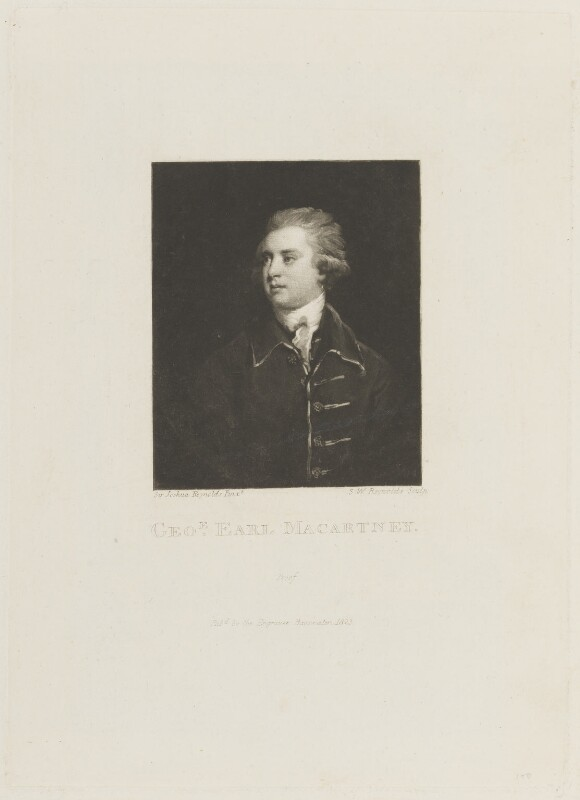 George Macartney, 1st Earl Macartney, by and published by Samuel William Reynolds, after  Sir Joshua Reynolds, published 1823 (1764) - NPG D15344 - © National Portrait Gallery, London