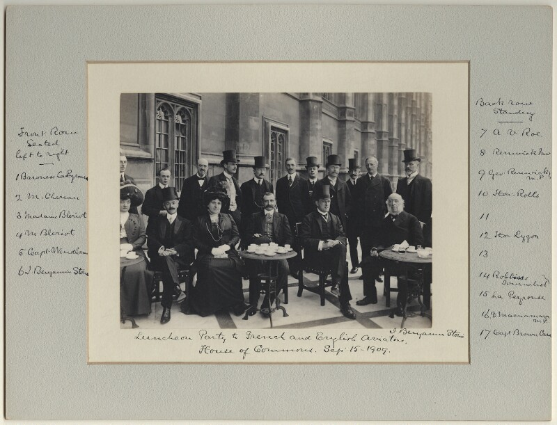 Luncheon party to French and English Aviators, by Benjamin Stone, 15 September 1909 - NPG x126225 - © National Portrait Gallery, London
