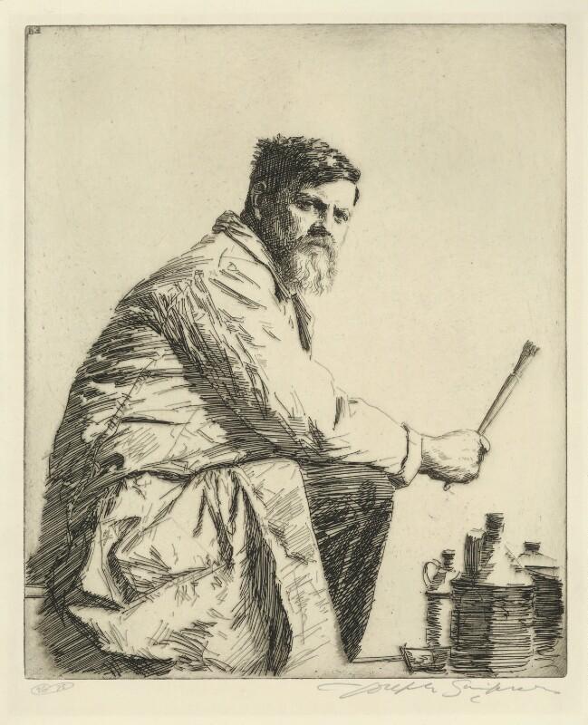 Sir Frank Brangwyn, by Joseph Simpson, circa 1931 - NPG D18418 - © National Portrait Gallery, London