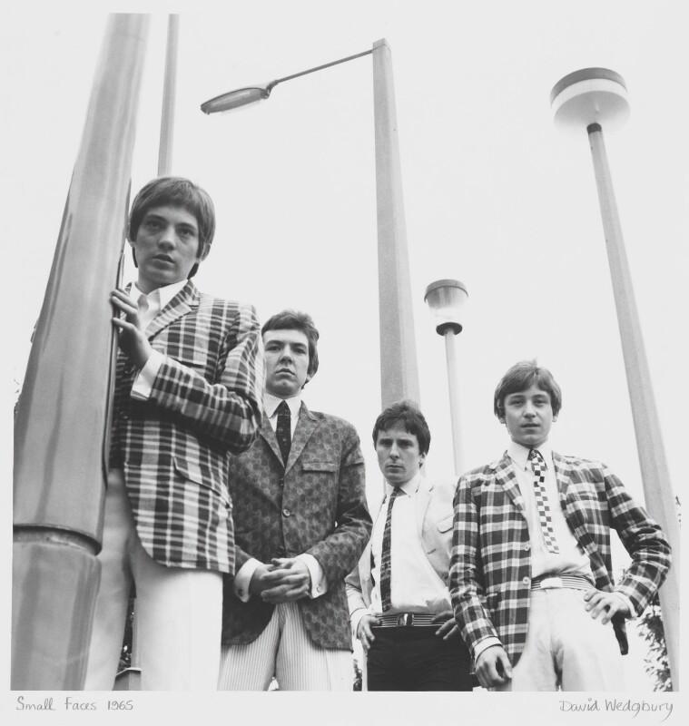 The Small Faces (Steve Marriott; Ronnie ('Plonk') Lane; Jimmy Winston (Jimmy Langwith); Kenny Jones), by David Wedgbury, 1965 - NPG x47359 - © National Portrait Gallery, London