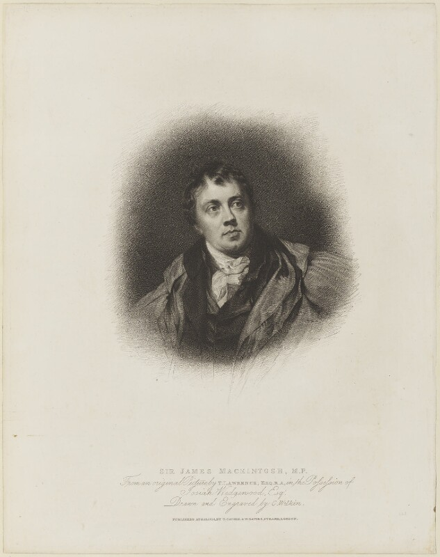 Sir James Mackintosh, by Charles Wilkin, published by  T. Cadell & W. Davies, after  Sir Thomas Lawrence, published 16 August 1814 (exhibited 1804) - NPG D15370 - © National Portrait Gallery, London