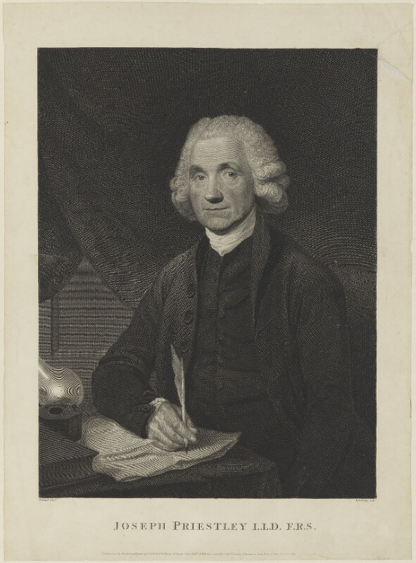Joseph Priestley, by and published by Thomas Holloway, published by  Robert Wilkinson, published by  Darling & Thompson, after  William Artaud, published 15 July 1795 - NPG D15373 - © National Portrait Gallery, London