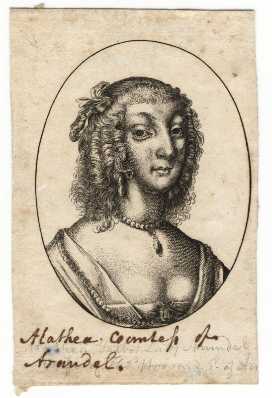 Possibly Aletheia Talbot, Countess of Arundel, by Wenceslaus Hollar, mid 17th century - NPG D18363 - © National Portrait Gallery, London