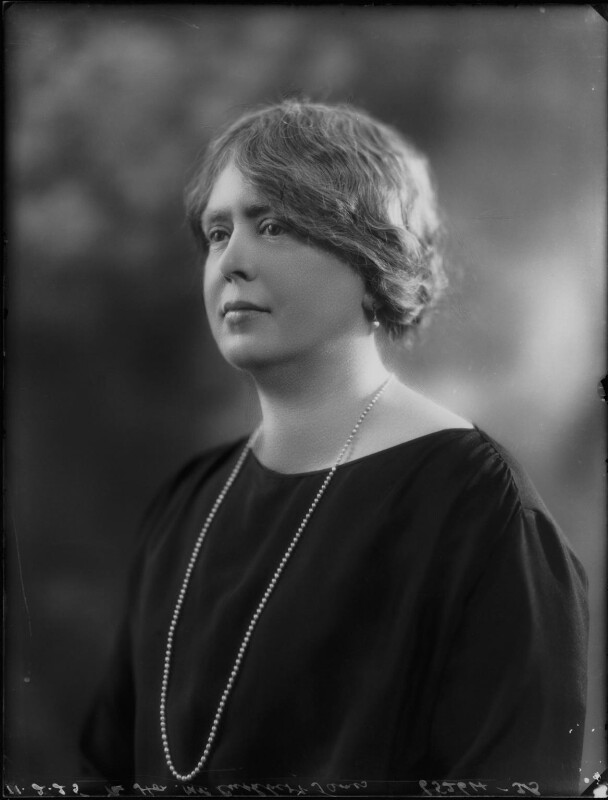 Florence James (née Packe), by Bassano Ltd, 11 February 1925 - NPG x123191 - © National Portrait Gallery, London