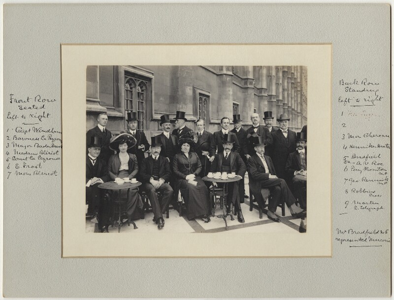 Luncheon party to French and English Aviators, by Benjamin Stone, 15 September 1909 - NPG x126226 - © National Portrait Gallery, London