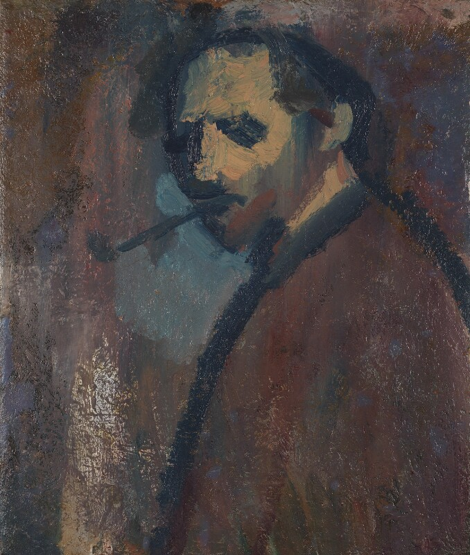 David Bomberg ('Self-Portrait with Pipe'), by David Bomberg, circa 1932 - NPG 6653 - © National Portrait Gallery, London