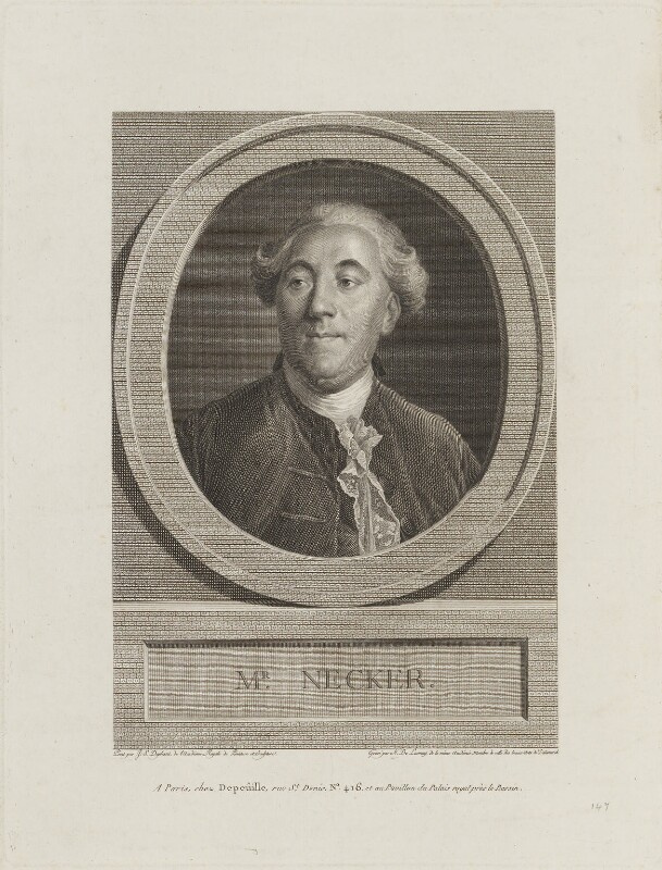 Jacques Necker, by N. de Launay, published by  Depeûille, after  Joseph Siffred Duplessis, (circa 1800) - NPG D15398 - © National Portrait Gallery, London