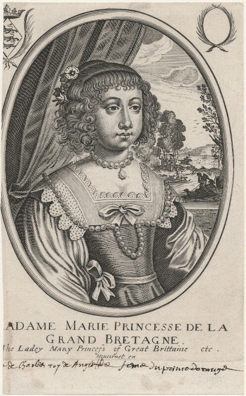 Mary, Princess of Orange, after Unknown artist, mid 17th century - NPG D18426 - © National Portrait Gallery, London