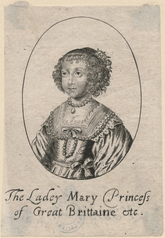 Mary, Princess of Orange, after Unknown artist, mid 17th century - NPG D18428 - © National Portrait Gallery, London