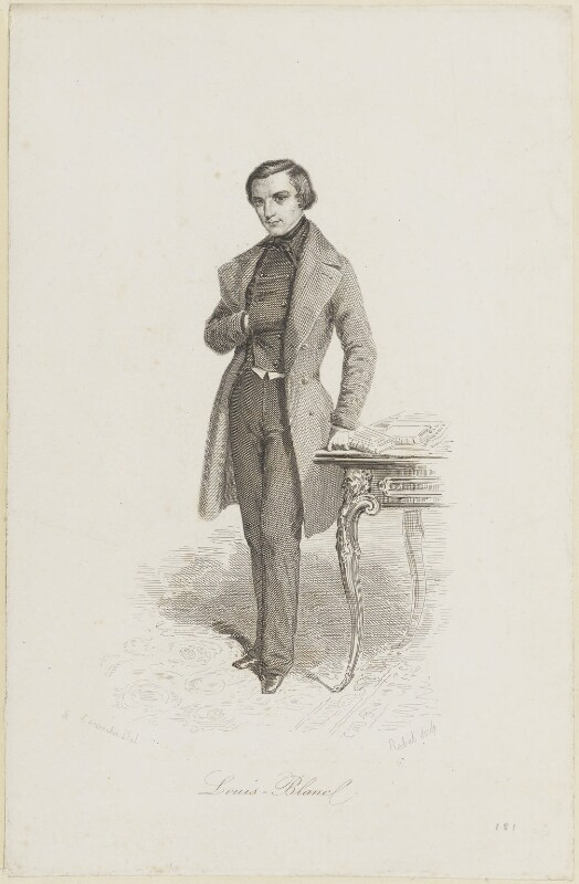 Louis Jean Joseph Charles Blanc, by Eleonore Sophie Rebel, circa 1825-1850 - NPG D15435 - © National Portrait Gallery, London