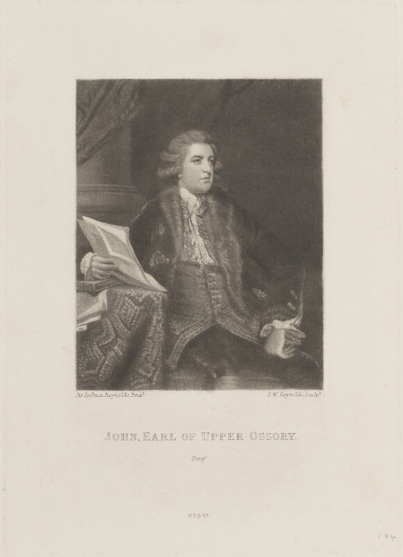John Fitzpatrick, 2nd Earl of Upper Ossory, by Samuel William Reynolds, published by  Henry Graves, after  Sir Joshua Reynolds, published 1820 (1767) - NPG D15437 - © National Portrait Gallery, London