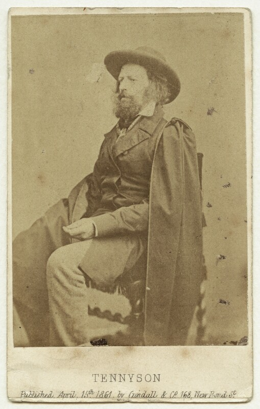 Alfred, Lord Tennyson, by James Mudd, published by  Cundall, Downes & Co, 1861 - NPG x13230 - © National Portrait Gallery, London