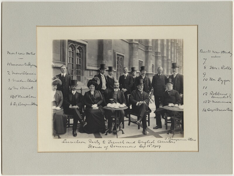 Luncheon party to French and English Aviators, by Benjamin Stone, 15 September 1909 - NPG x126224 - © National Portrait Gallery, London
