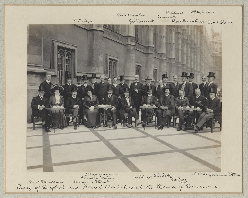 Luncheon party to French and English Aviators, by Benjamin Stone, 15 September 1909 - NPG x126228 - © National Portrait Gallery, London
