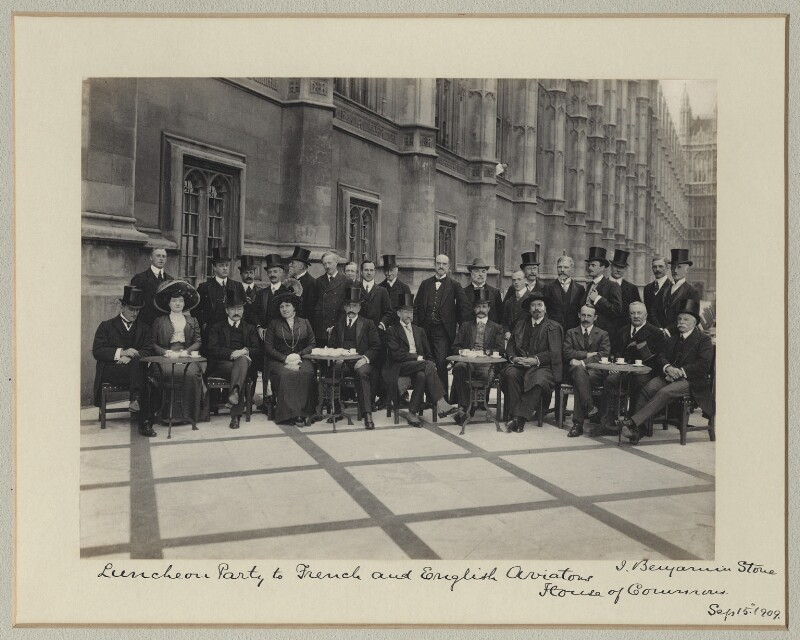 'Luncheon party to French and English Aviators', by Benjamin Stone, 15 September 1909 - NPG x126227 - © National Portrait Gallery, London