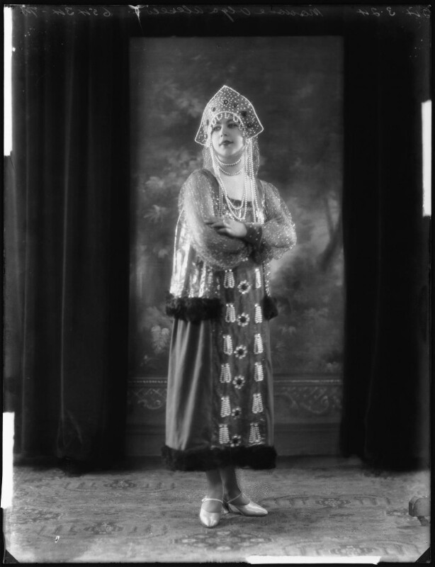 Madame Olga Alexeeva, by Bassano Ltd, 24 March 1925 - NPG x123239 - © National Portrait Gallery, London