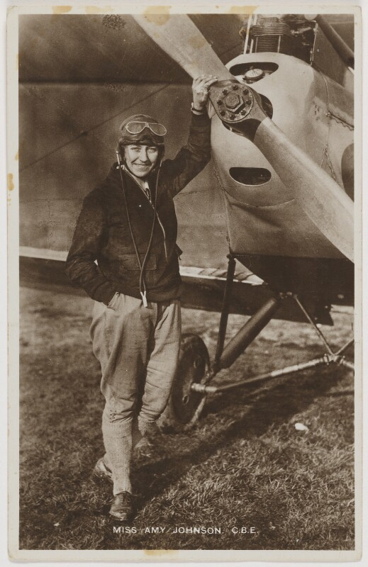 Amy Johnson, published by Raphael Tuck & Sons, 1930 - NPG x126240 - © National Portrait Gallery, London