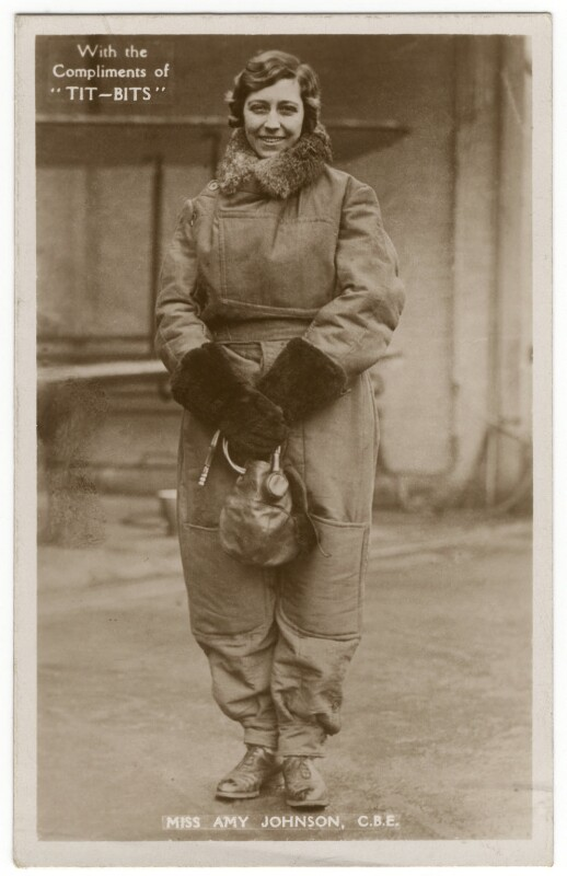 Amy Johnson, published by Tit-Bits, 1930 - NPG x126241 - © National Portrait Gallery, London