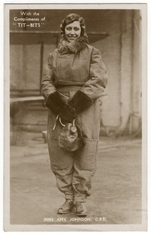 Amy Johnson, published by Tit-Bits, 1930 - NPG x126241 - © National Portrait Gallery, London