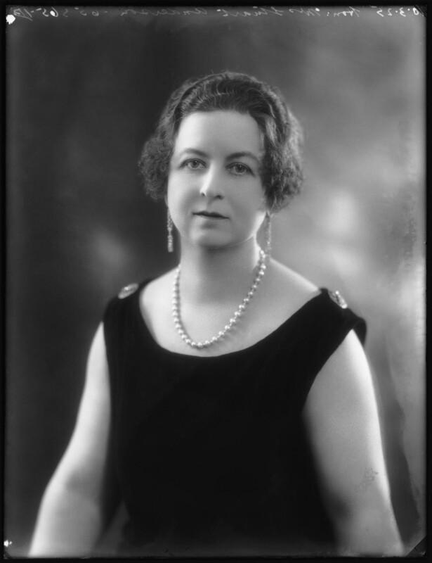 Hon. Rosamond Anderson (née Tufton), by Bassano Ltd, 10 March 1925 - NPG x123255 - © National Portrait Gallery, London
