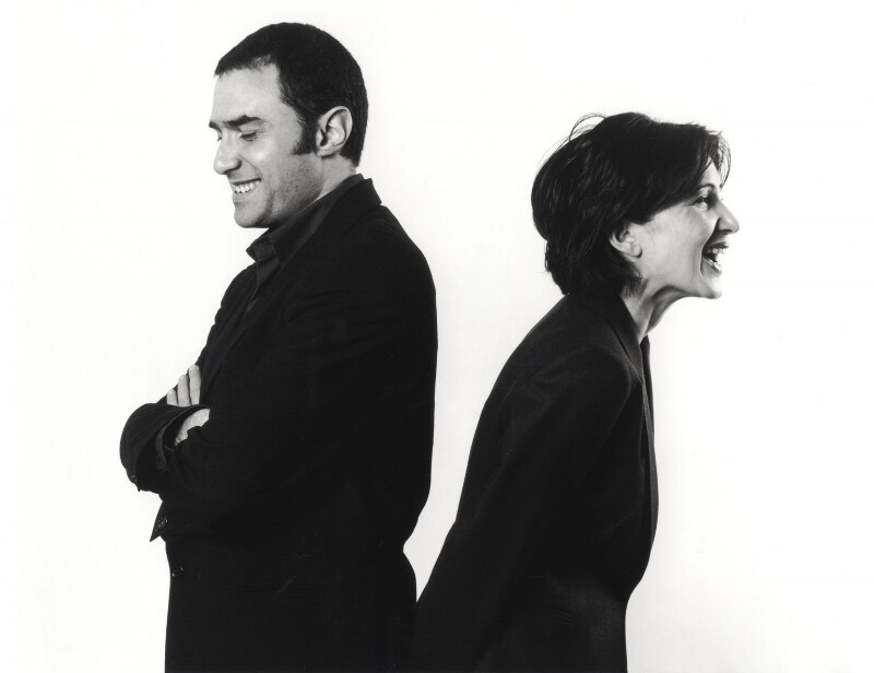 Foreign Office Architects (Alejandro Zaera Polo; Farshid Moussavi), by Valerie Bennett, 2002 - NPG x126242 - © Valerie Bennett / National Portrait Gallery, London