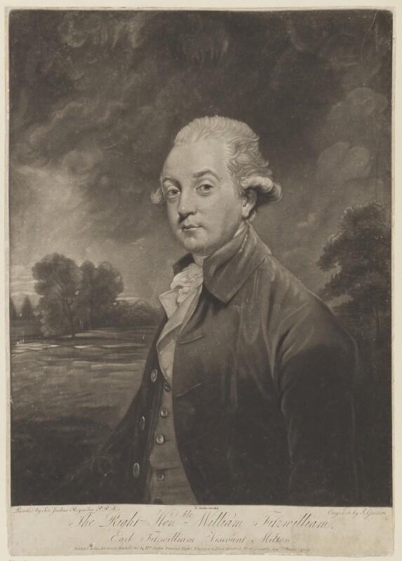 William Wentworth Fitzwilliam, 2nd Earl Fitzwilliam, by Joseph Grozer, published by  William Austin, after  Sir Joshua Reynolds, published 31 March 1786 - NPG D15497 - © National Portrait Gallery, London